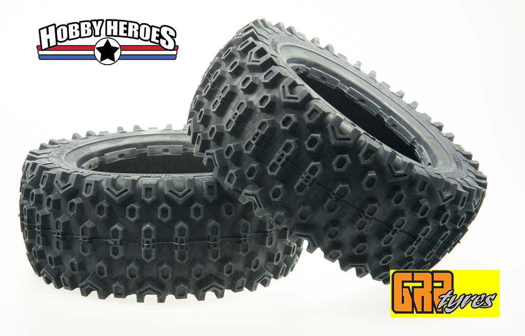 GRP GW96-S3 Med compound 180mm Cross Line tires HPI Baja 5T/5SC Front, and Losi 5ive/DBXL/VEKTA.5 Front/Rear