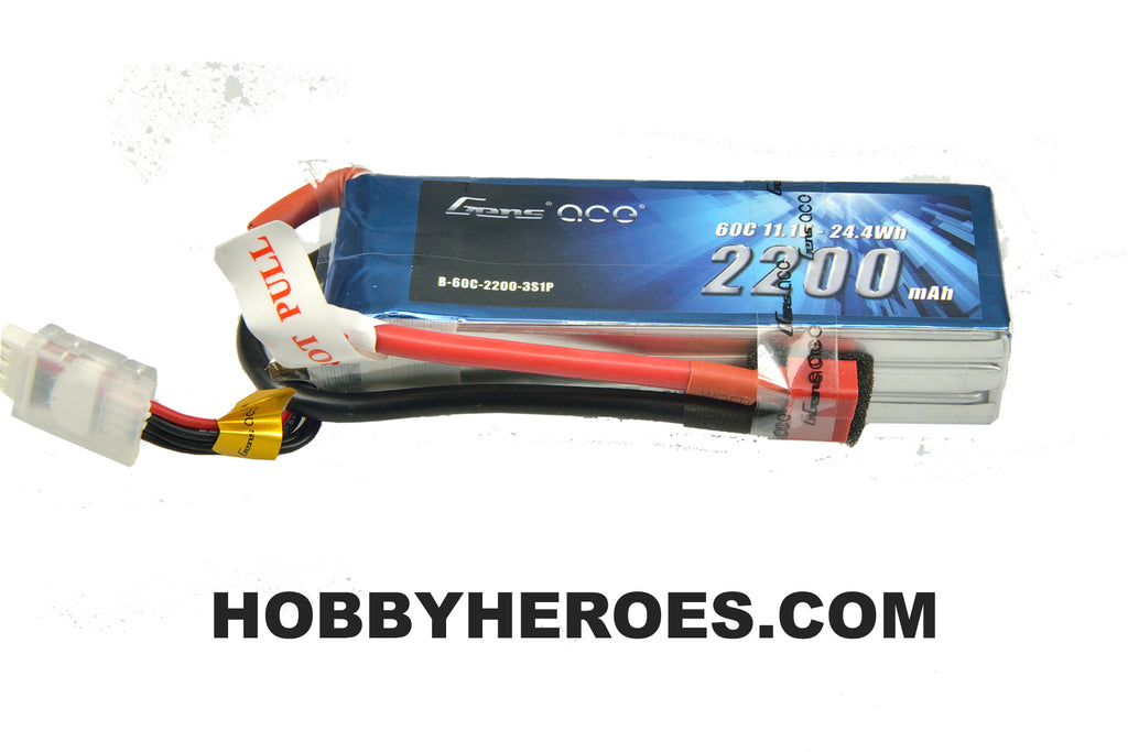 Gens ace 2200mAh 11.1V 60C 3S1P Lipo Battery Pack with Deans Plug GAB60C22003S1PDEANS