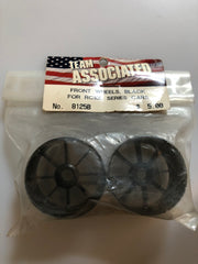 Associated 1/10 Front Wheels Black ASC8125B