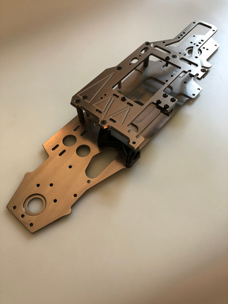 WolfPack Radicals Super Nitro RS4 Chassis Conversion Gun Metal Vintage VIN231