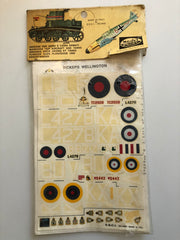 ESCI G.B. Vickers Wellington DECALS 1/72 ESCI63