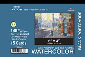 C2f Watercolor Postcard 4x6 140# 14/tp/pad PRO028700