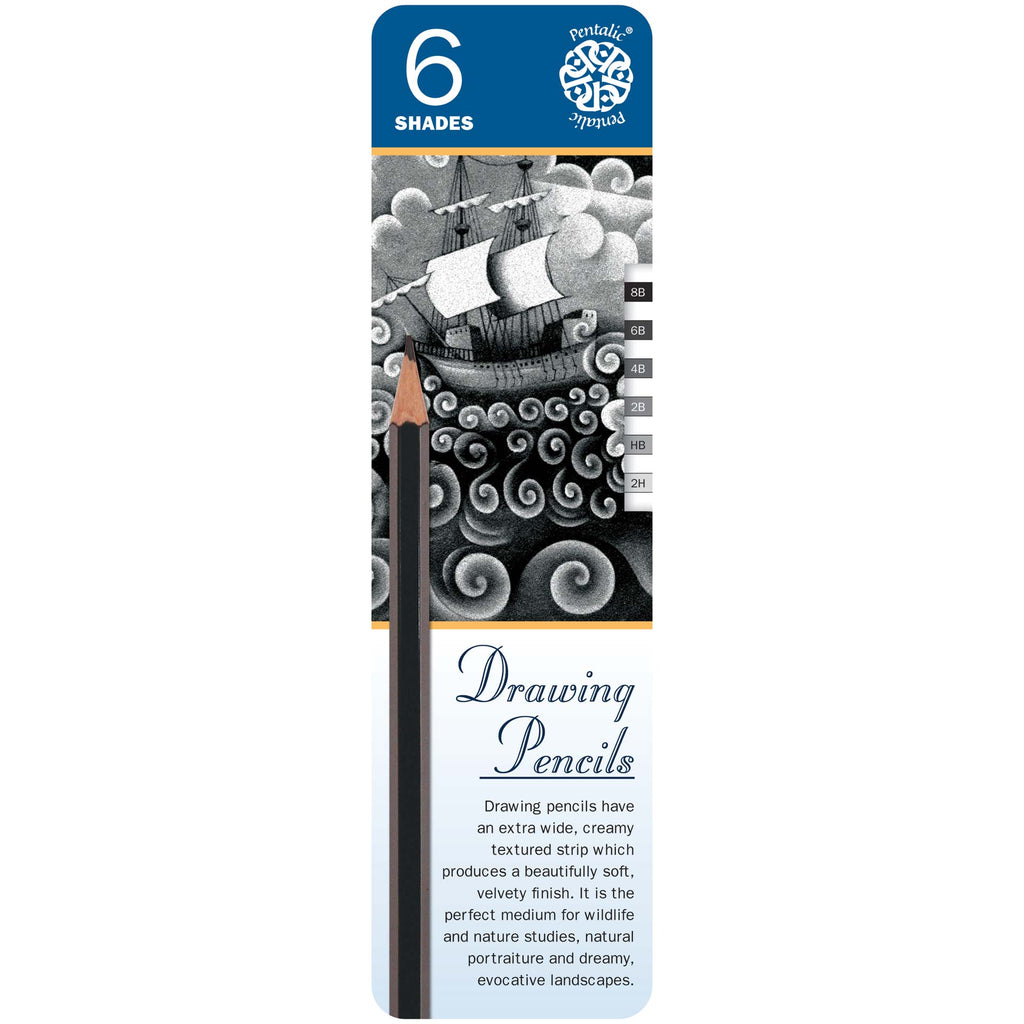 Pentalic Drawing Pencils 6 Shades PTL897006