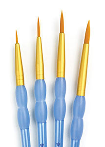 Royal Gold Nylon Round Brush Set ROYRCC201