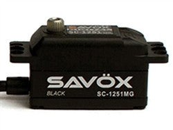 Savox Low Profile Digital Servo .09/125 @ 6.0 SAVSC1251MG-BE