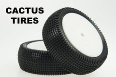SCHU6841 Cactus yellow 1/10 4wd front pre glued - NEW Turf Tire