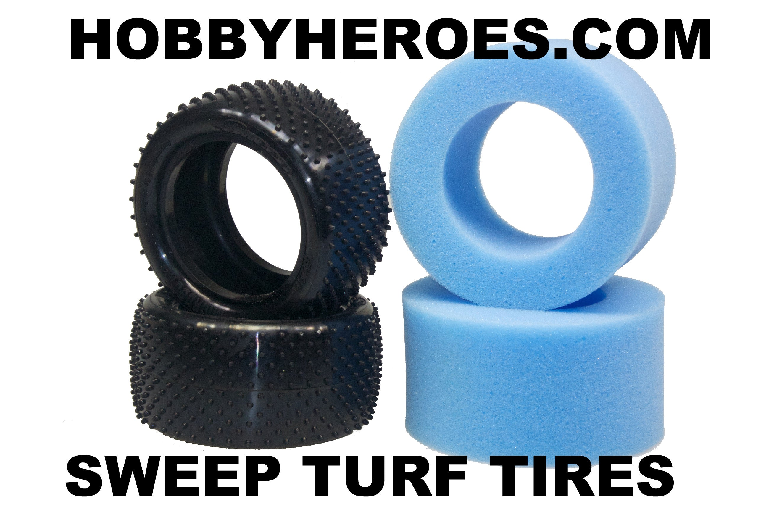 "SWEEP 1/10th Buggy 2.2"" TURF Rear tire Micro Dot SW130-65"