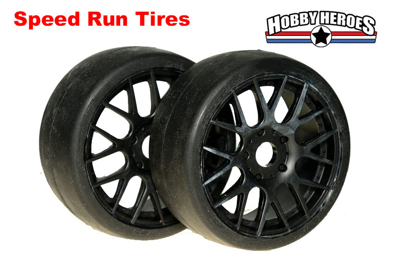 Sweep GT Slick  SPEED RUN tires on Black multi spoke rims 95mm SW4314014