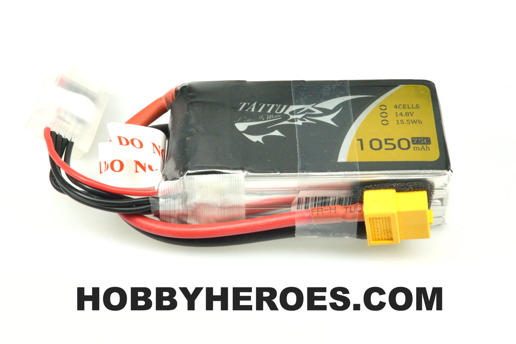 Tattu 14.8V 75C 4S1P 1050mAh Lipo Battery Pack  with XT60 Plug TA75C10504S1PXT60