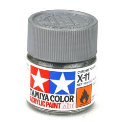 Tamiya X-11 Chrome Silver 1/3 Oz Acrylic Mini TAM81511
