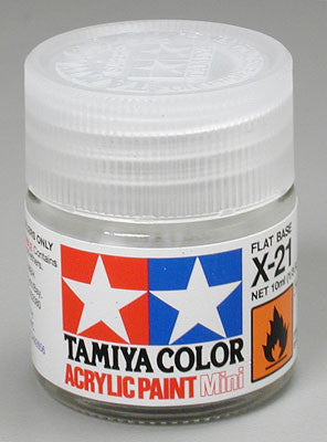 Tamiya X-21 Flat Base 1/3 oz Acrylic Mini TAM81521