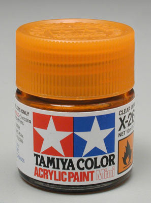 Tamiya X-26 Clear Orange 1/3 oz Acrylic Mini TAM81526