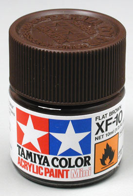 Tamiya XF-10 Flat Brown 1/3 oz Acrylic Mini TAM81710