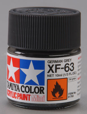 Tamiya XF-63 German Gray 1/3 oz Acrylic Mini TAM81763