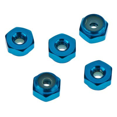 Tamiya 15500 JR Aluminum Locknut 2mm Blue (5) TAM15500
