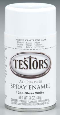 Testors Spray White 3 oz TES1245T