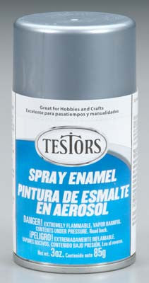 Testors Spray Silver Metallic 3 oz TES1246T