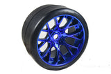 Sweep Monster Truck VHT Crusher Belted Tire on WHD BLUE CHROME Wheel New SWSRC1003BC
