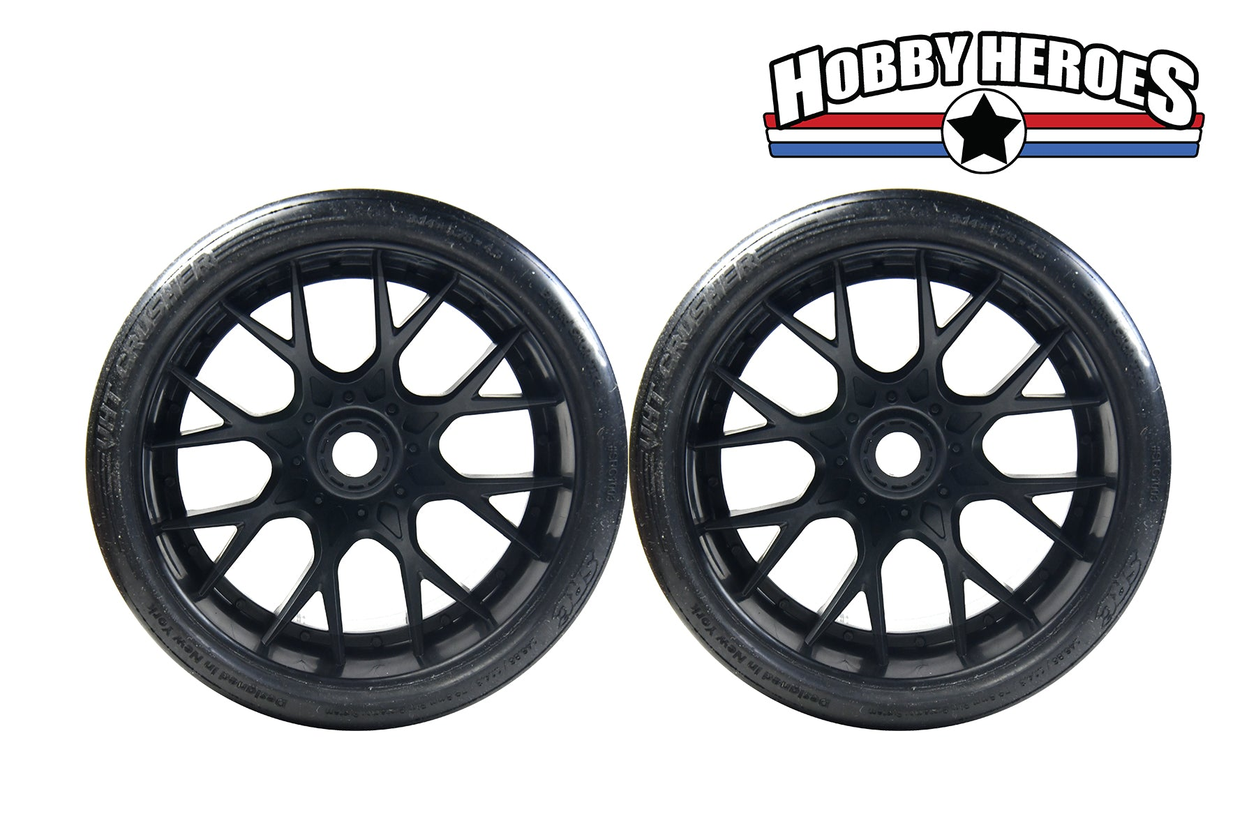 Sweep Monster Truck VHT Crusher Belted Tire on WHD Black Wheel New SWSRC1003B