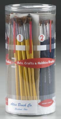 Paint Brush Cylinder Assorted Camel Hair #1-6 ABS32-CY