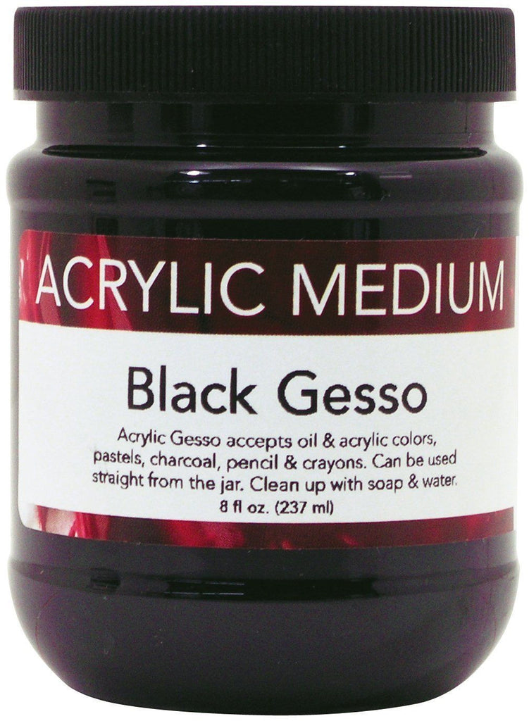Art Advantage 8oz Acrylic Black Gesso ART320208