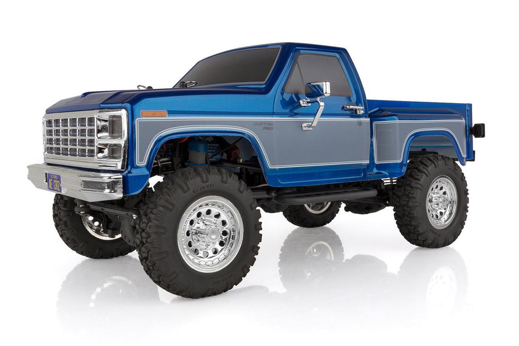 Associated CR12 Ford F-150 Pick Up Truck RTR, Electric 1:12th Scale 4WD, Brushed (Blue) ASC40002
