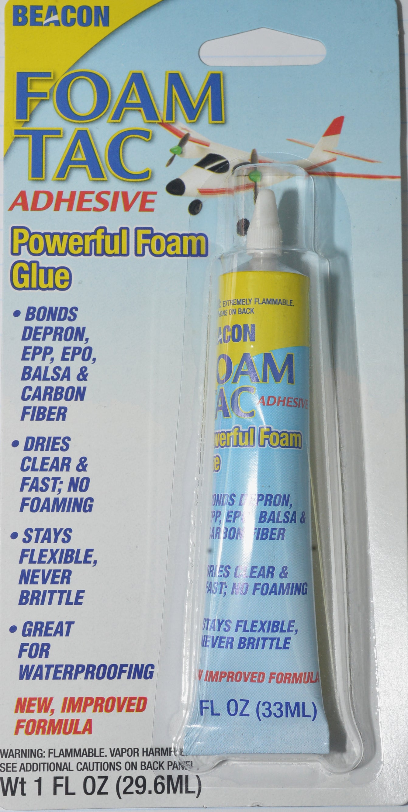 Beacon Glue Foam Tac Glue 1oz 054947317158