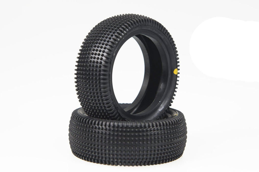 SCHU6840 Cactus yellow 1/10 4wd front - NEW Turf Tire