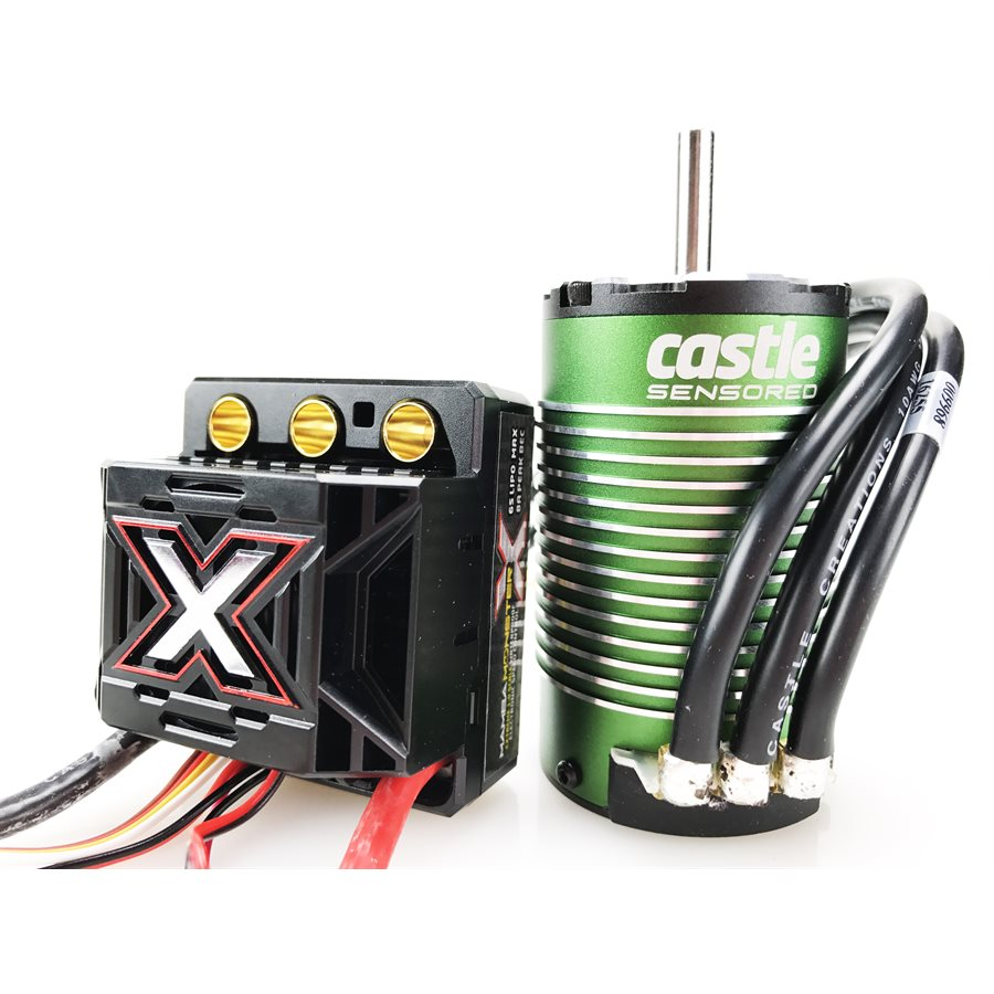 Castle Creations Monster X 25.2V ESC, 8A Peak BEC w/ 1512-2650KV Sensored Motor CSE010-0145-04