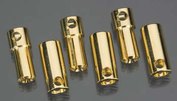Castle Creations 5.5mm Bullet Connector 13G/10G 150A (3) CSECCBUL5.5X3