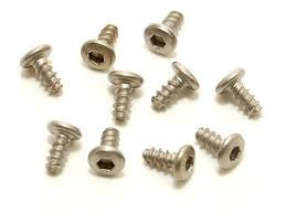 Pn Racing M2x4 Titanium Button Head Hex Tapping Screw PNR700634