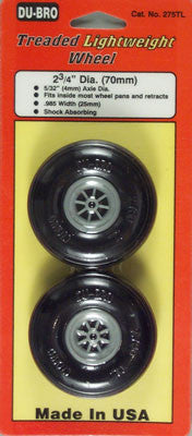 "Dubro Treaded Lite Wheels 2-3/4 (2)"" DUB275TL"