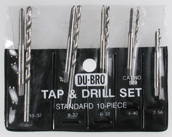 Dubro 10 Pc Stand Tap & Drill Asst DUB509