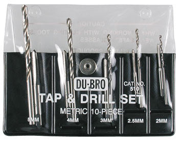 Dubro Metric Tap +Drill Set 10-Piece DUB510