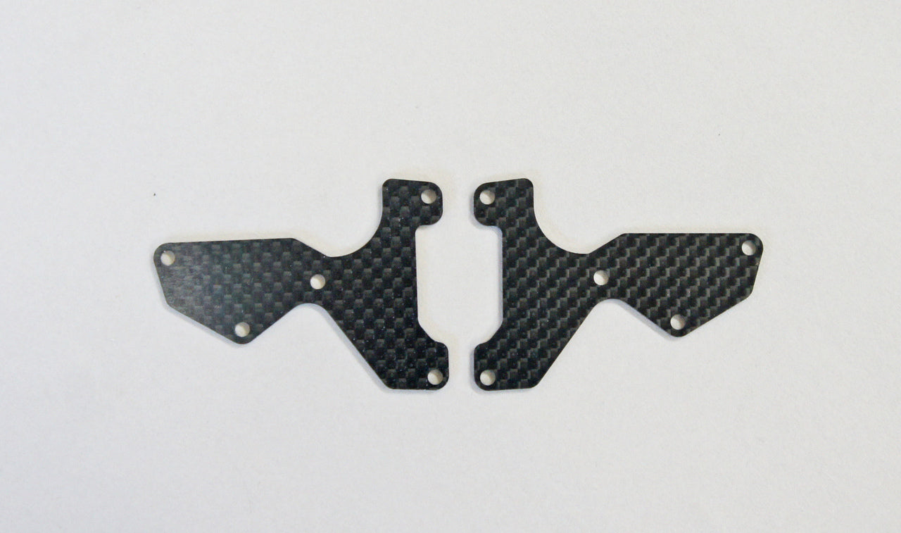 Mugen Graphite Front Lower Suspension Arm Mount Plate 2pcs (1.2mm): X8 MUGE2155