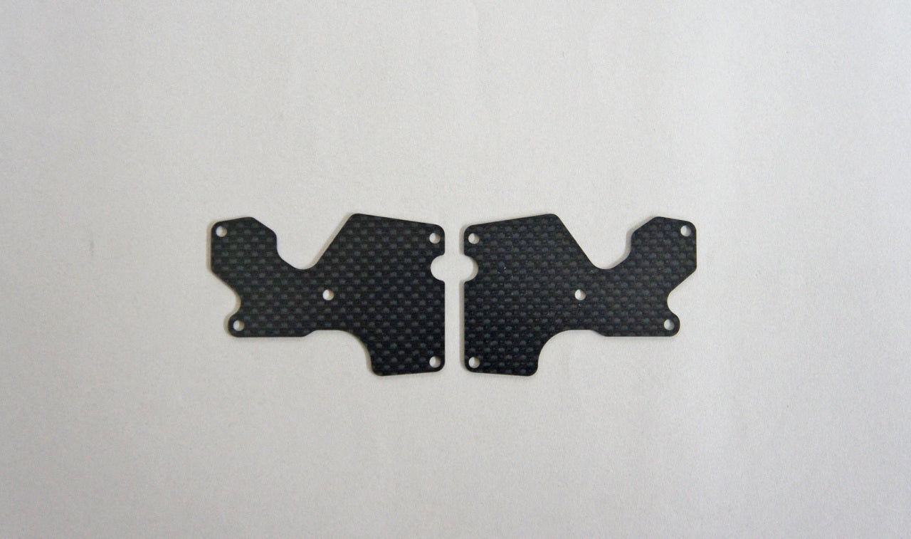 Mugen Seiki Graphite Rear Lower Suspension Arm Mount Plate 2pcs (1mm): X8 MUGE2156