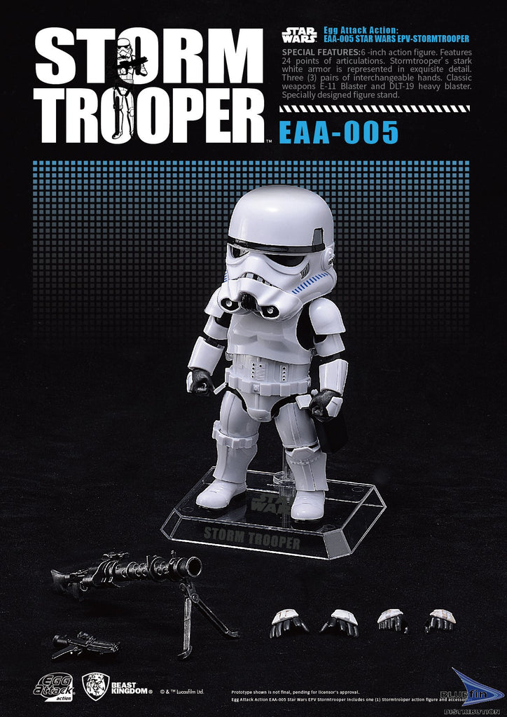 "Beast Kingdom EAA-005 Storm Trooper ""Star Wars"" Egg Attack Action BKT10031"