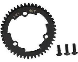 Hot Racing 46 Tooth 1 Steel Spur Gear, for E Revo 2, X-Maxx & XO-1 HRAERVT46M01