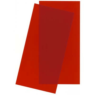 "Evergreen Scale Models 9901 Sheet Polystyrene Transparent Red .010x6x12"" (2) EVG9901"