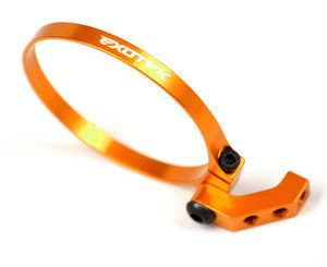 Exotek Racing Exo Fan Mount-Clamp On Set, Angled for 1/10 Buggies, Trucks, and Sedans (Orange) EXO1718ORG