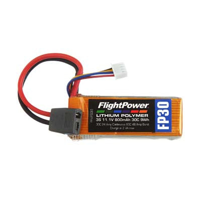 Flight Power 11.1V 800mAh 30C Star Plug FPWP3083