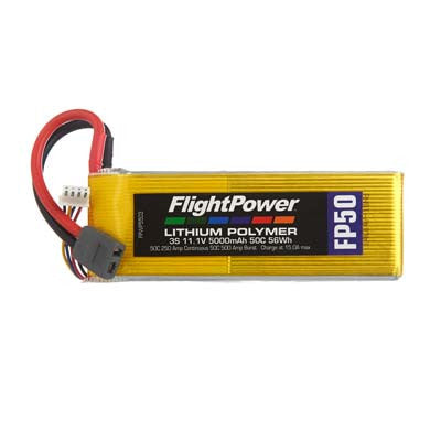 Flight Power FP50 3S 11.1V 5000mAh 50C Star Plug FPWP5503
