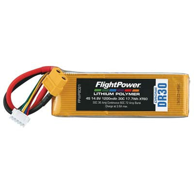 Flight Power Drone 4S 14.8V 1200mAh 30C XT60 Plug FPWP8021