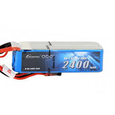 Gens Ace 2400mAh 7.4V RX 2S1P Lipo Battery Pack with JST-SYP Plug GABRX24002S1PJST