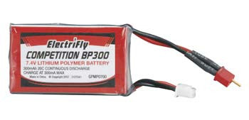 Great Planes 7.4V 300mAh 20C Competition BP Series GPMP0700