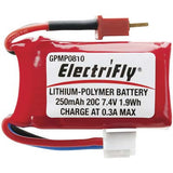 Great Planes Li-Po 250mah 7.4v 2-Series Pk GPMP0810
