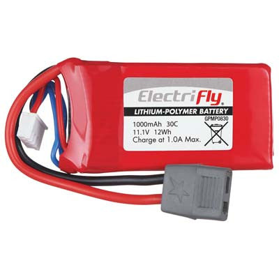 Great Planes 11.1v 30c 1000mah Battery GPMP0830