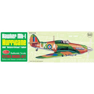 Guillows Hawker MK-1 Hurricane WW II wooden Kit GUI506