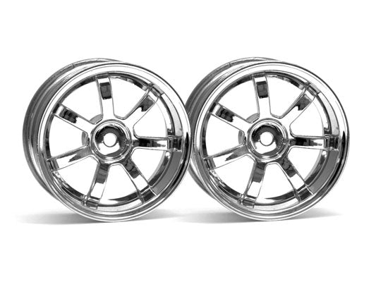HPI Rays Gram Lights 57S-Pro Wheel, Chrome, 6mm Offset HPI3317