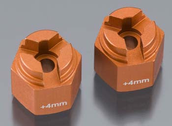 Hpi Aluminum Hex Hub 4mm Offset Orange (2) HPI87075